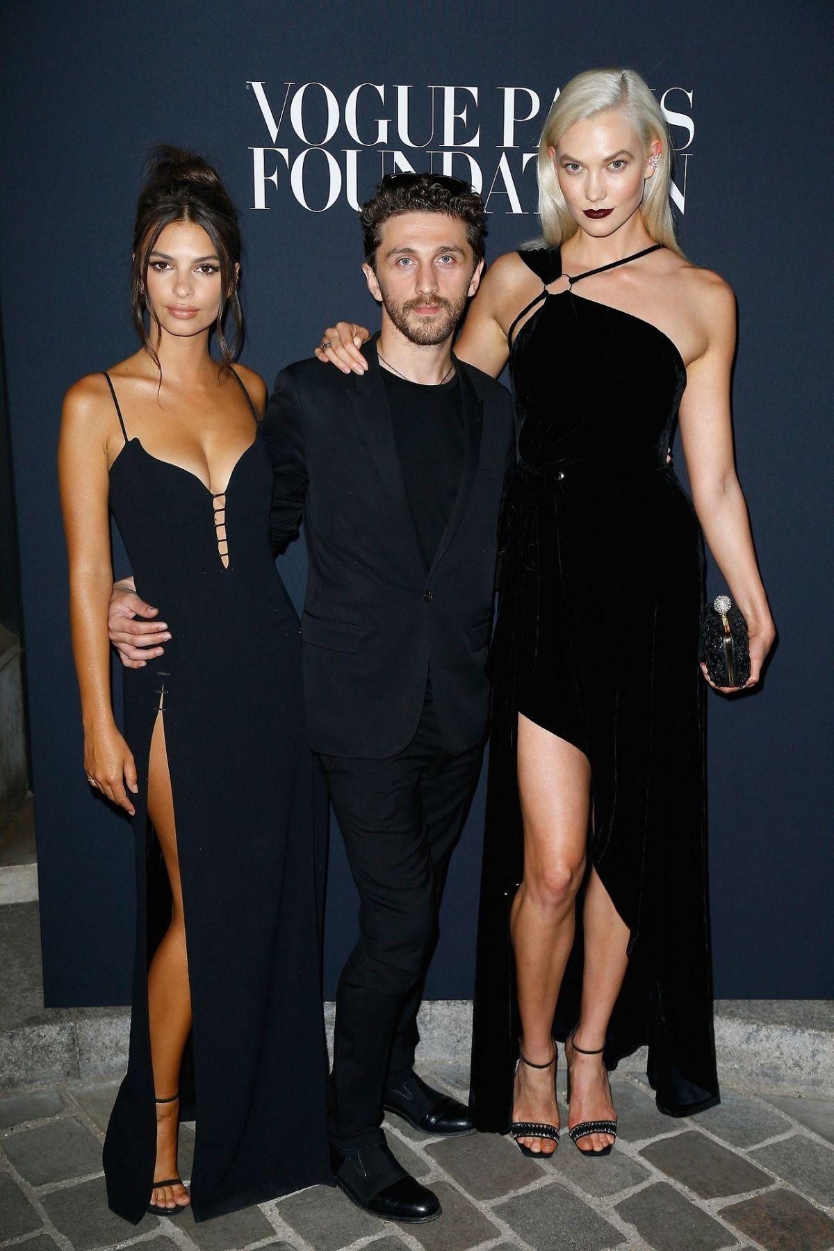 EMILY RATAJKOWSKI and KARLIE KLOSS at Vogue Foundation Dinner in Paris 07/4/2017