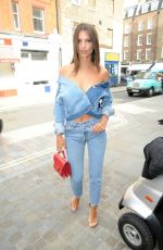 EMILY RATAJKOWSKI at Chiltern Firehouse in London 06/30/2017