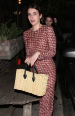 EMMA ROBERTS Out for Dinner in Los Angeles 07/13/2017