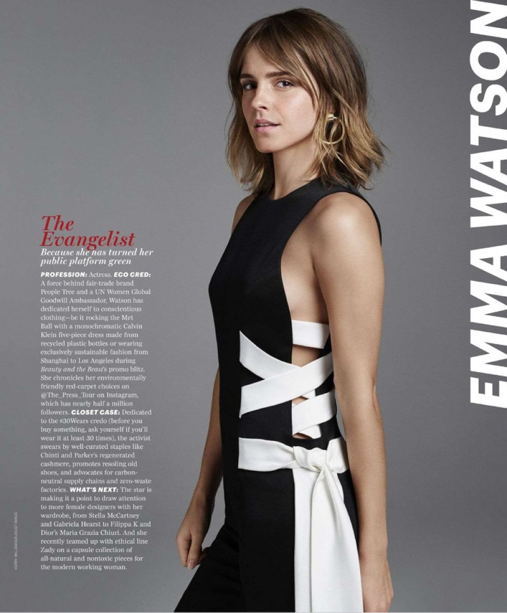 EMMA WATSON in Marie Claire Magazine, August 2017