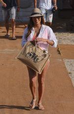 EVA LONGORIA at a Beach Club in Marbella 07/13/2017