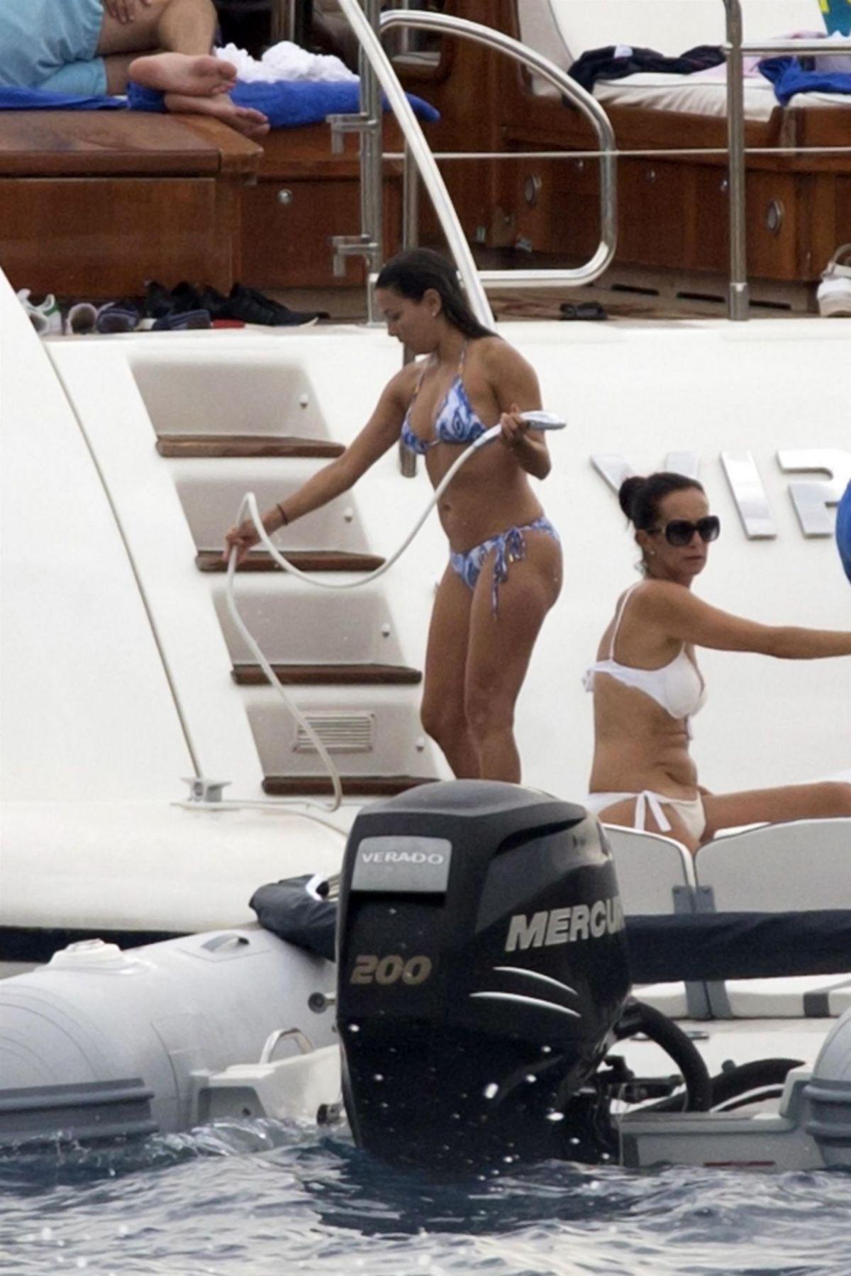 EVA LONGORIA in Bikini at a Yacht in Mallorca 07/23/2017