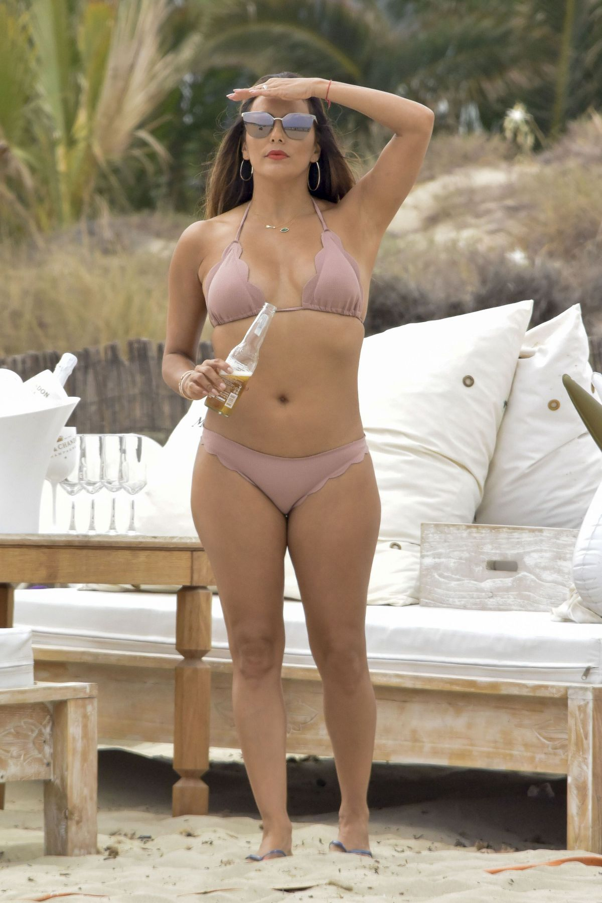 EVA LONGORIA in Bikini on the Beach in Ibiza 07/20/2017