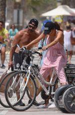 EVA LONGORIA Riding a Bike in Marbella 07/18/2017