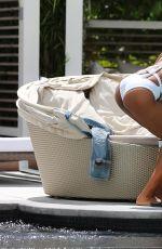 EVA MARCILLE in Bikini at a Pool in South Beach 07/20/2017