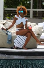 EVA MARCILLE in Bikini at a Pool in South Beach 07/20/2017