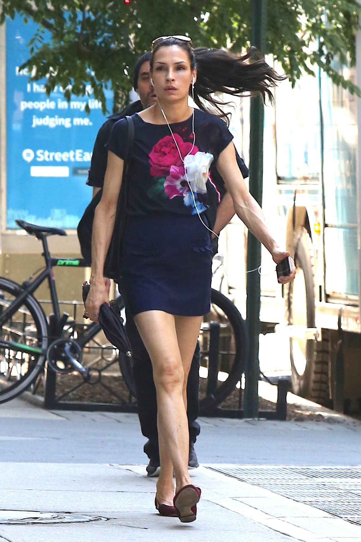 FAMKE JANSSEN Leaves a Gym in New York 07/03/2017 – HawtCelebs