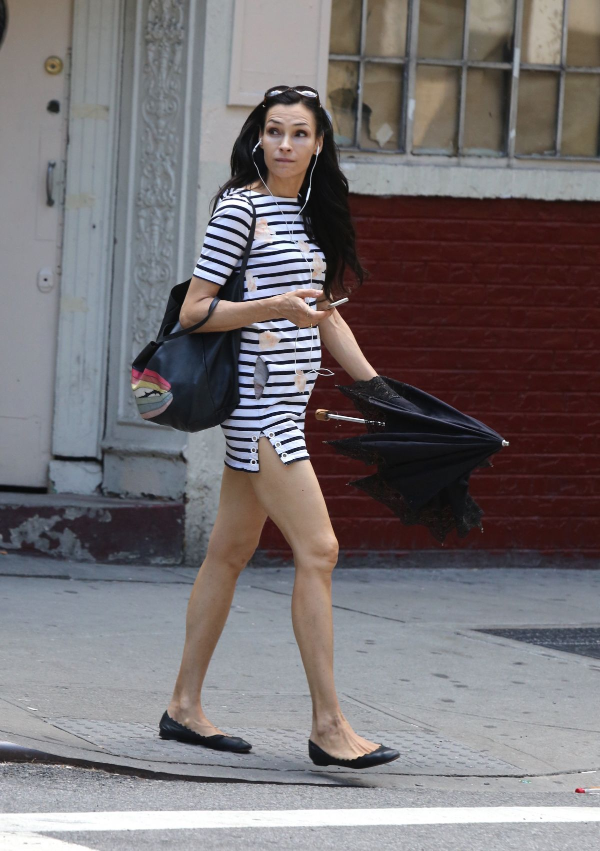 FAMKE JANSSEN Leaves a Gym in New York 07/09/2017 - HawtCelebs