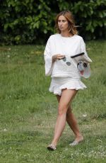 FEARNE MCCANN Arrives at Her Home in Essex 07/08/2017