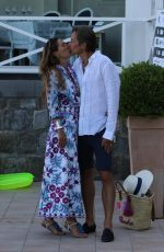 FINA SWAROVSKI and Karl-Heinz Grasser Out in Naples 07/10/2017