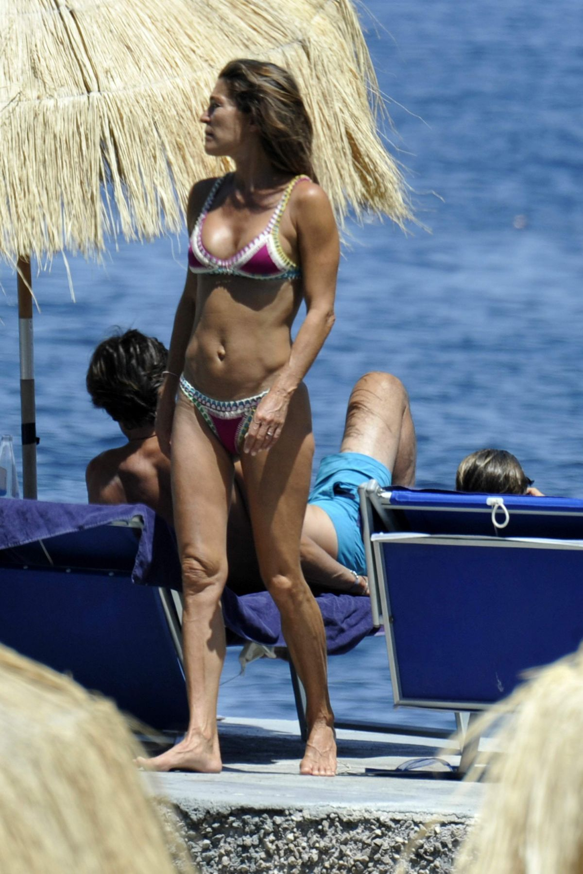 FIONA SWAROVSKI in Bikini at a Beach in Hotel Regina in Ischia 07/10/2017