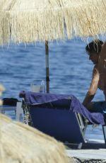 FIONA SWAROVSKI in Bikini at a Beach in Hotel Regina in Ischia 07/10/2017