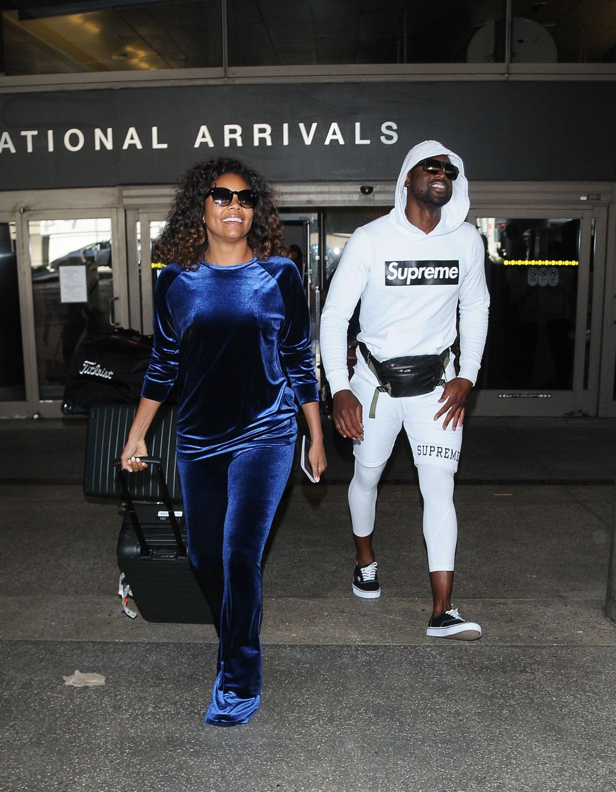 GABRIELLE UNION and Dwyane Wade at ALX Airport in Los Angeles 07/03/2017