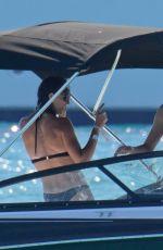 GARBINE MUGURUZA in Bikini at a Boat in Ibiza 06/08/2017