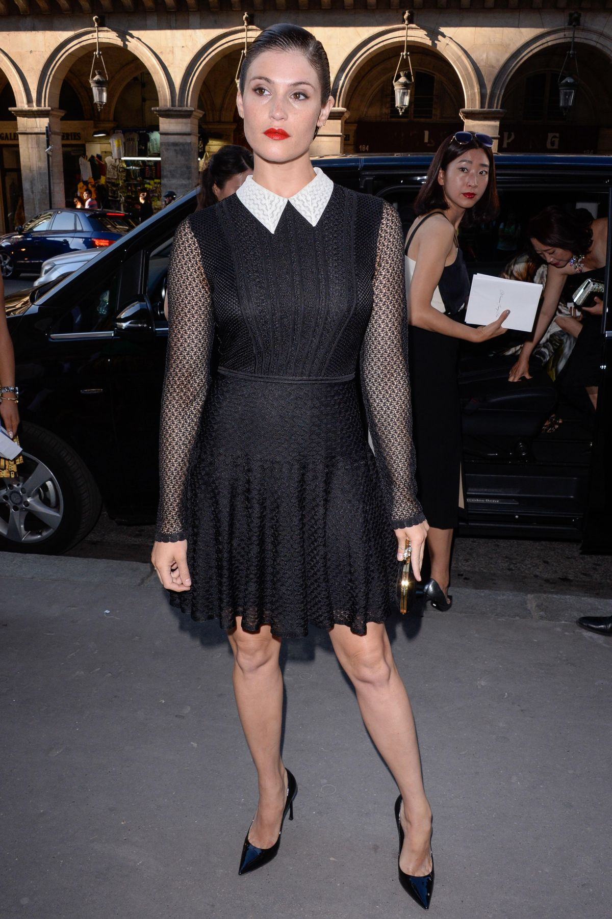 GEMMA ARTERTON Arrives at Christian Dior Exhibition Party in Paris 07/03/2017