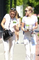 GIGI and MARIELLE HADID Leaves Alfred Tea in Los Angeles 07/05/2017