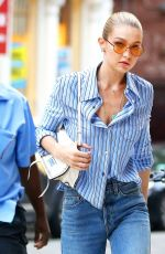 GIGI HADID in Jeans Leaves Her Appartment in New York 07/25/2017