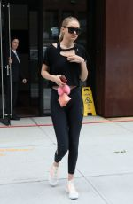 GIGI HADID in Tights Leaves Her Apartment in New York 07/25/2017
