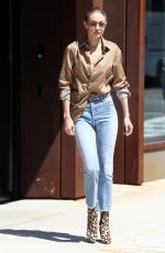 GIGI HADID Leaves Her Apartment in New York 07/18/2017