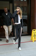 GIGI HADID Leaves Her Apartment in New York 07/20/2017