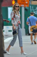 GIGI HADID Leaves Her Apartment in New York 07/29/2017