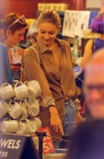 GIGI HADID Out Shopping in New York 07/18/2017