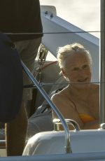 GLENN CLOSE on Holiday in Barbados 07/04/2017