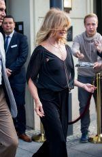 GOLDIE HAWN Leaves Her Hotel in Berlin 07/05/2017