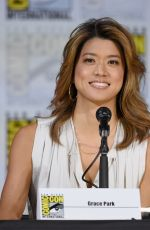GRACE PARK at Battlestar Galactica Reunion Panel at Comic-con in San Diego 07/20/2017