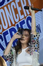 HAILEE STEINFELD Performs at Today Show Concert Series in New York 07/14/2017