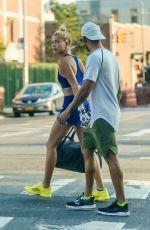 HAILEY BALDWIN and Lewis Hamilton in New York 07/18/2017