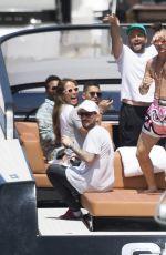 HAILEY BALDWIN on a Boat Trip in Miami 07/07/2017
