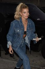 HAILEY BALDWIN Out for Dinner at Craig