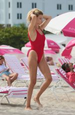 HAILEY CLAUSON in Swimsuit at a Beach in Miami 07/23/2017