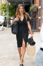 HEIDI KLUM in a Dress Out in New York 07/11/2017