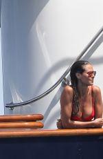 HEIDI KLUM in Bikini at a Yacht in Saint Tropez 07/27/2017