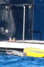 HEIDI KLUM in Bikini on a Yacht in Cap D