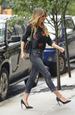 HEIDI KLUM Out and About in New York 07/07/2017