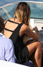 HEIDI KLUM Out and About in Saint Tropez 07/26/2017