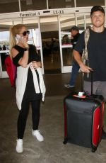 HEIDI MONTAG and Spencer Pratt at LAX Airport in Los Angeles 07/22/2017