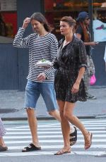 HELENA CHRISTENSEN Out in New York 07/09/2017