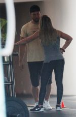 HILARY DUFF at a Gym in West Hollywood 07/08/2017
