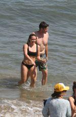 HILARY DUFF in Bikini on the Beach in Malibu 07/08/2017
