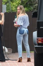 HILARY DUFF in Tight Jeans at a Friend