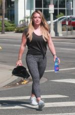 HILARY DUFF in Tights Heading to Pilates Class in Sherman Oaks 07/22/2017