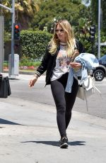 HILARY DUFF Out and About in Los Angeles 07/03/2017