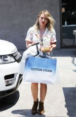 HILARY DUFF Out Shopping in Beverly Hills 07/11/2017