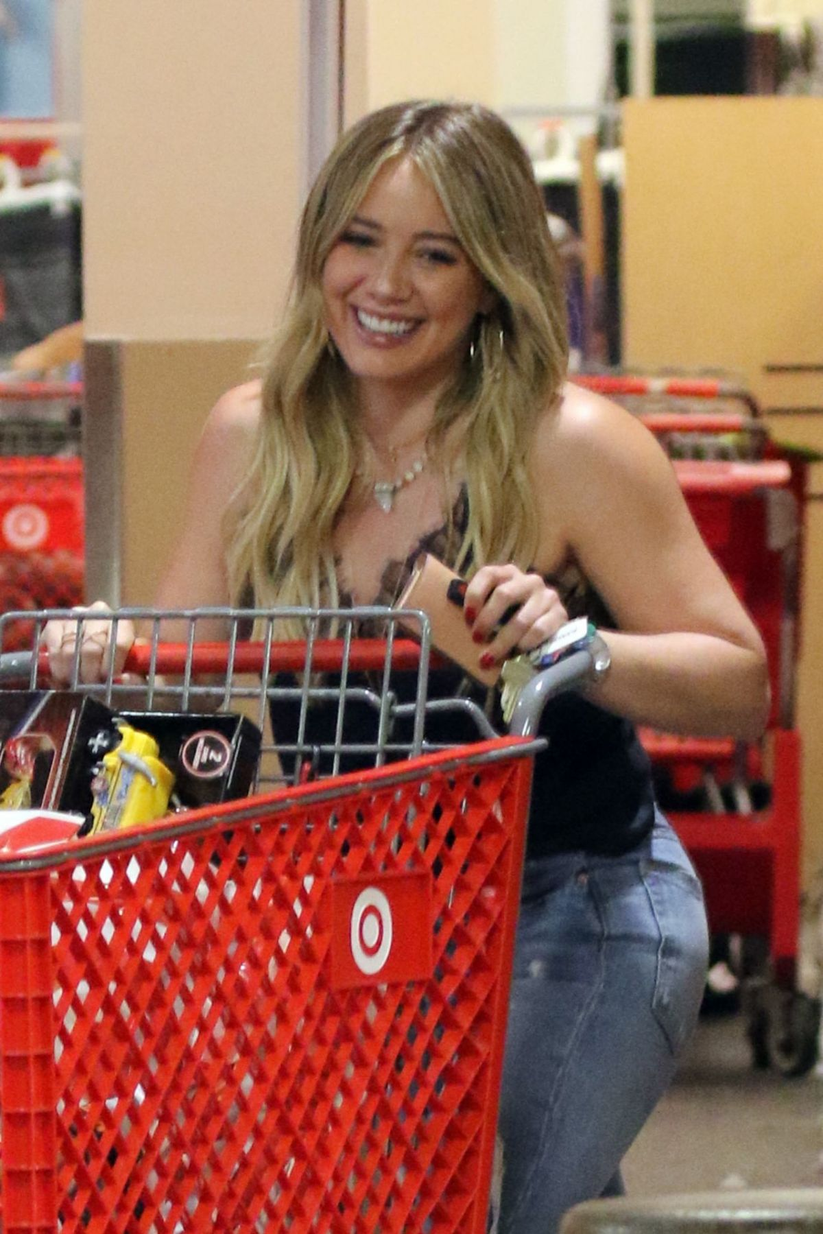 HILARY DUFF Shopping at Target in Los Angeles 07/14/2017