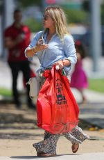 HILARY DUFF Shopping at Whole Foods in Beverly Hills 07/05/2017