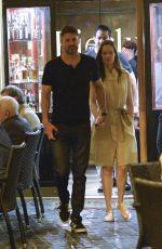 HILARY SWANK and Philip Schneider at Dinner at Pierluigi Restaurant in Rome 07/20/2017
